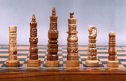 Native Asmat Decorative Chess